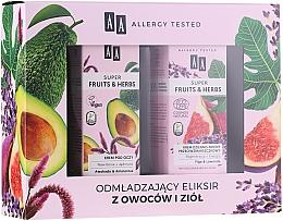 Düfte, Parfümerie und Kosmetik Gesichtspflegeset - AA Super Fruits & Herbs (Augencreme 15ml + Gesichtscreme 50ml)