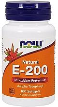 Düfte, Parfümerie und Kosmetik Nahrungsergänzungsmittel Vitamin E-200 100 Weichkapseln - Now Foods Natural Vitamin E-200 D-Alpha Tocopheryl Softgels
