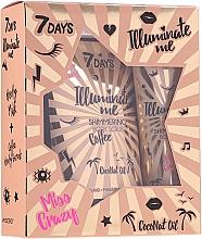 Düfte, Parfümerie und Kosmetik Körperpflegeset - 7 Days Illuminate Me Miss Crazy №1 (Körpermilch 150ml + Körperpeeling 200g)