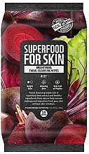 Düfte, Parfümerie und Kosmetik Aufhellende Gesichtsreinigungstücher mit Rüben-Extrakt - Superfood For Skin Brightening Facial Cleansing Wipes Beet