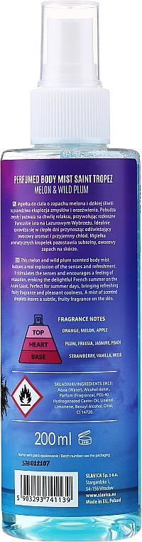 Shake for Body Perfumed Body Mist Saint Tropez Melon & Wild Plum - Parfümierter Körpernebel Melone & Wilde Pflaume — Bild N2