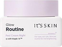 Düfte, Parfümerie und Kosmetik Aufhellende Nachtcreme für das Gesicht mit Peeling-Effekt - It's Skin Glow Routine Peel Cream Night