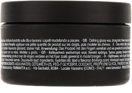 Haarwachs mit Glanzeffekt Starker Halt - Farmavita HD Defining Glossy Wax/Strong Hold — Bild N2