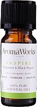 Düfte, Parfümerie und Kosmetik Ätherische Ölmischung mit Bergamotte und schwarzem Pfeffer - AromaWorks Inspire Essential Oil