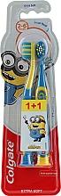 Düfte, Parfümerie und Kosmetik Kinderzahnbürste Smiles 2-6 Jahre extra weich gelb, blau 2 St. - Colgate Smiles Kids Extra Soft