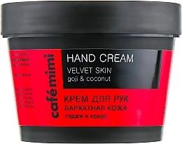Düfte, Parfümerie und Kosmetik Handcreme mit Goji-Beere und Kokosnussöl - Cafe Mimi Hand Cream Velvet Skin