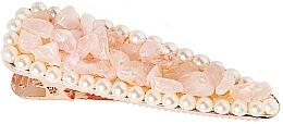 Düfte, Parfümerie und Kosmetik Haarspange Rosenquarz - Crystallove Rose Quartz Hair Clip
