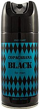Düfte, Parfümerie und Kosmetik Deodorant für Männer - Jean Marc Copacabana Black For Men