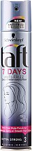 "Düfte, Parfümerie und Kosmetik Haarlack ""7 Days Anti-Frizz"" Extra starker Halt - Schwarzkopf Taft 7 Days Anty-Frizz Daily Finish HairSpray"