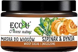 Düfte, Parfümerie und Kosmetik Feuchtigkeitsspenende Haarmaske mit Spinat und Kürbis - Eco U Pumpkins And Spinach Mask
