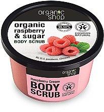 Düfte, Parfümerie und Kosmetik Körperpeeling mit Bio Himbeerextrakt und natürlichem Zucker - Organic Shop Body Scrub Organic Raspberry & Sugar