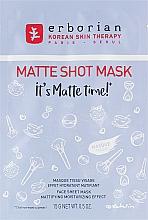 Düfte, Parfümerie und Kosmetik Mattierende und feuchtigkeitsspendende Tuchmaske für das Gesicht - Erborian Matte Shot Mask