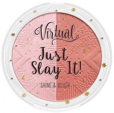 2in1 Highlighter und Rouge - Virtual Just Slay It! Shine & Blush — Bild N1