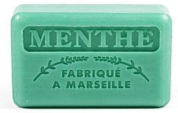 Düfte, Parfümerie und Kosmetik Handgemachte Naturseife mit Minzduft und Sheabutter - Foufour Savonnette Marseillaise Menthe