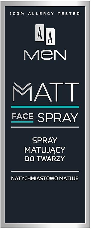 Mattierendes Gesichtsspray für Männer - AA Men Matt Face Spray