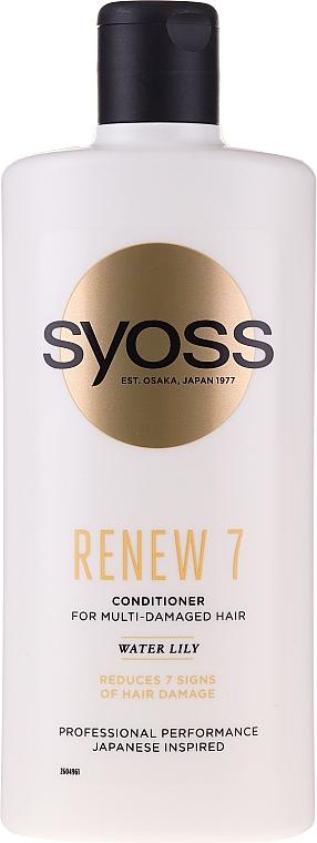 Haarspülung für stark geschädigtes Haar - Syoss Renew 7 Water Lily Conditioner For Multi-Damage Hair