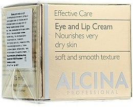 Düfte, Parfümerie und Kosmetik Anti-Aging Creme für Augenlider und Lippen - Alcina E Eye and Lip Cream