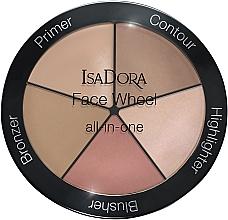 Düfte, Parfümerie und Kosmetik 5in1 Make-up Palette - IsaDora Face Wheel All-In-One