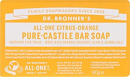 Düfte, Parfümerie und Kosmetik Seife Zitrus und Orange - Dr. Bronner's Pure Castile Bar Soap Citrus & Orange