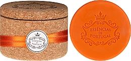 Düfte, Parfümerie und Kosmetik Naturseife Orange in Schmuck-Box - Essencias de Portugal Cork Jewel-Keeper Orange Soap Tradition Collection