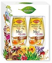 Düfte, Parfümerie und Kosmetik Haarpflegeset - Bione Cosmetics Honey + Q10 (Shampoo 260ml + Duschgel 300ml)