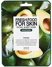"""Düfte, Parfümerie und Kosmetik Glättende Anti-Falten Tuchmaske """"Avocado"""" für alle Hauttypen - Fresh Food For Skin Facial Sheet Mask Avocado Smoothing"""
