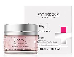 Düfte, Parfümerie und Kosmetik Lippenpeeling mit Rose und Hyaluronsäure - Symbiosis London Revitalising Sugar Lip Scrub