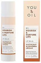 Düfte, Parfümerie und Kosmetik Pflegender Lippenbalsam - You & Oil Nourish & Nurture Lip Balm