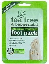 Düfte, Parfümerie und Kosmetik Feuchtigkeitsspendende Fußmaske in Socken mit Teebaum und Pfefferminze - Xpel Marketing Ltd Tea Tree & Peppermint Deep Moisturising Foot Pack