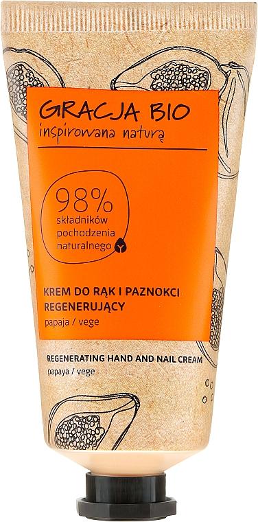 Regenerierende Hand- und Nagelcreme mit Papayaextrakt - Gracja Bio Regenerating Hand And Nail Cream