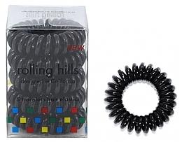 Düfte, Parfümerie und Kosmetik Spiral-Haargummi schwarz 5 St. - Rolling Hills 5 Traceless Hair Rings