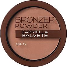 Düfte, Parfümerie und Kosmetik Bronzing Puder mit Hyaluronsäure und LSF 15 - Gabriella Salvete Bronzer Powder SPF 15