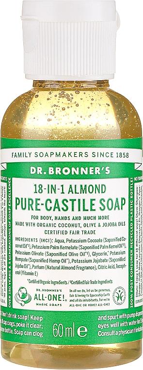 18in1 Flüssige Hand- und Körperseife mit Mandel - Dr. Bronner's 18-in-1 Pure Castile Soap Almond