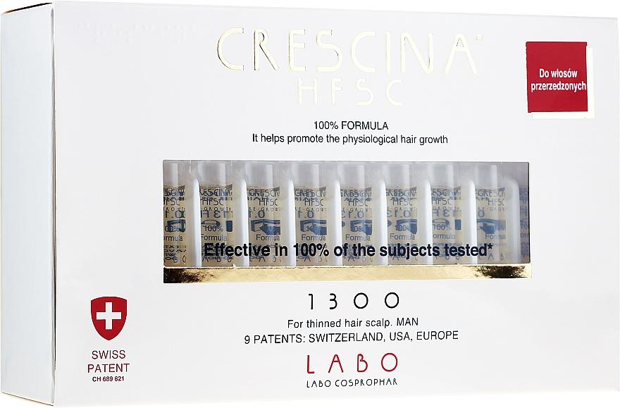 Haarwachstums-Behandlung bei verdünnter Kopfhaut für Männer - Crescina HFSC Re-Growth 1300