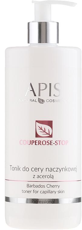 Gesichtstonikum für erweiterte Kapillaren mit Barbados-Kirsche - Apis Professional Couperose-Stop Barbados Cherry Tonner