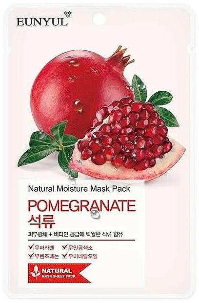 Tuchmaske für das Gesicht mit Granatapfelextrakt - Eunyul Natural Moisture Pomegranate Mask
