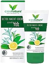 Düfte, Parfümerie und Kosmetik Regenerierende Detox-Nachtcreme mit grünem Tee für gestresste Haut - Cosnature Night Cream Detox Green Tea