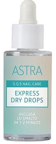 Nagellack-Schnelltrockner - Astra Make-up Sos Nails Care Express Dry Drops