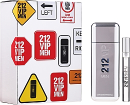 Düfte, Parfümerie und Kosmetik Carolina Herrera 212 VIP Men - Duftset (Eau de Toilette 100ml + Eau de Toilette Mini 10ml)