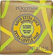 Düfte, Parfümerie und Kosmetik Extra sanfte Seife mit Sheabutter und Bergamotte - L'Occitane Shea Butter & Bergamot Extra Gentle Soap
