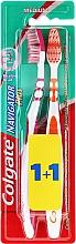 Düfte, Parfümerie und Kosmetik Zahnbürste mittel Navigator Plus orange, rosa 2 St. - Colgate