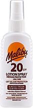 Düfte, Parfümerie und Kosmetik Sonnenschutzlotion-Spray für den Körper mit Sheabutter-Extrakt SPF 20 - Malibu Lotion Spray SPF20