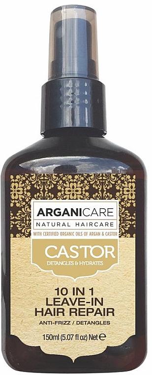 Regenerierende 10in1 Haarpflege mit Argan- und Rizinusöl ohne Ausspülen - Argaincare Castor Oil 10-in-1 Hair Repair