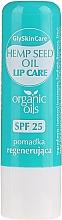 Düfte, Parfümerie und Kosmetik Regenerierender Lippenbalsam mit Bio Hanföl SPF 25 - GlySkinCare Organic Hemp Seed Oil Lip Care