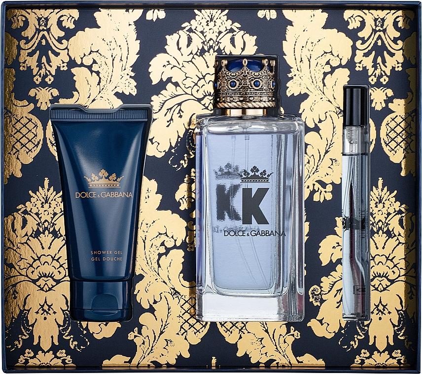 Dolce&Gabbana K by Dolce&Gabbana - Duftset (Eau de Toilette 100ml + Duschgel 50ml + Eau de Toilette Mini 10ml)