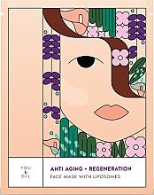 Düfte, Parfümerie und Kosmetik Anti Aging Gesichtsmaske mit Liposomen - You & Oil Anti-Aging & Regeneration Face Mask With Liposomes
