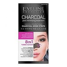 Düfte, Parfümerie und Kosmetik Mitesser-Pflaster für Nase - Eveline Cosmetics Charcoal Nose Strips
