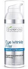 Düfte, Parfümerie und Kosmetik Falten-Filler Augencreme mit Hyaluronsäure - Bielenda Professional Program Eye Wrinkle Filler