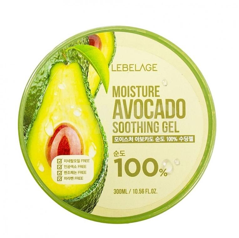 100% Beruhigendes Gel mit Avocado - Lebelage Moisture Avocado 100% Soothing Gel