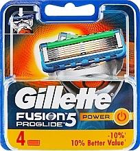 Düfte, Parfümerie und Kosmetik Ersatzklingen 4 St. - Gillette Fusion ProGlide Power